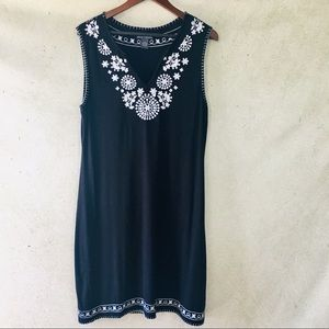 Chelsea & Theodore Embroidered Tank Dress
